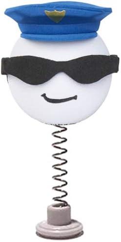 Cool Cop Police Officer Sunglasses Car Antenna Topper//Antenna Ball//Mirror Dangler//Desktop Spring Stand Bobble Coolballs Hero Series