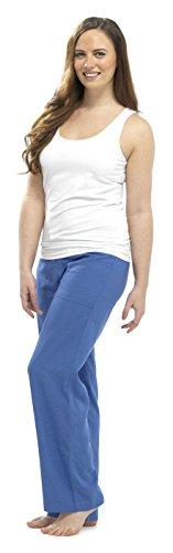 Tom Franks misto lino su tutta la lunghezza, pantaloni con elastico in vita Navy blue 44