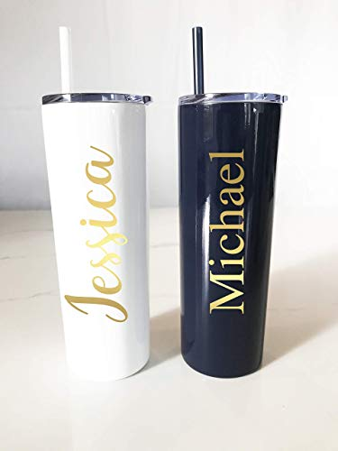 (Personalized Metal Tumbler Straw   Personalized Tumbler   Skinny Metal Tumbler   Bachelorette Party   Girls Trip Tumblers   Birthday Active)