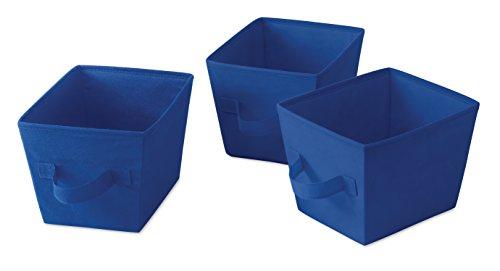 Whitmor Fabric Mini Organizing Tote, (Blue Mini Fabric)