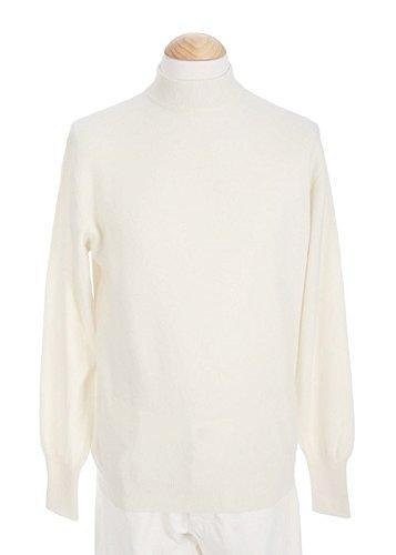 (Shephe Men's Mock Turtleneck Cashmere Sweater Off White Extra Large)