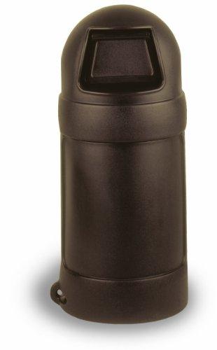 Continental 1425BN, 24-Gallon Roun'Top LLDPE Waste Receptacle, Round, Brown (Case of - Brown Roun