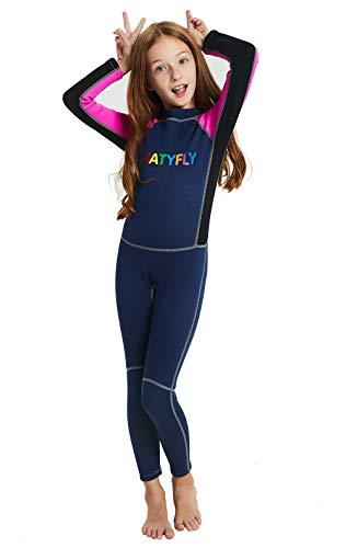 ae057688e02 NATYFLY Neoprene Wetsuits for Kids Boys Girls Back Zipper One Piece ...