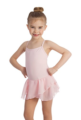 Elowel Kids Girls Basic Skirted Camisole Leotard (Size 2-14 Years) Multiple Colors