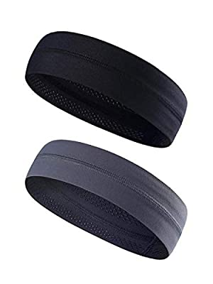 Mens & Women Headband - Best Sweatband & Sports Headband -Non Slip Design for Running, Crossfit, Yoga,Working Out- Super Comfortable, Moisture Wicking & Quality