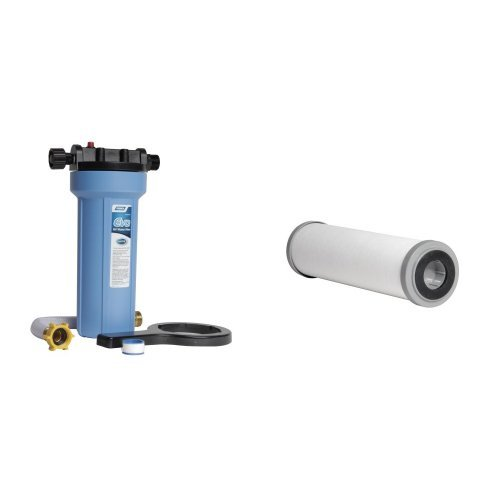 Camco EVO Premium Water Filter with Replacement Cartridges Bundle by Camco