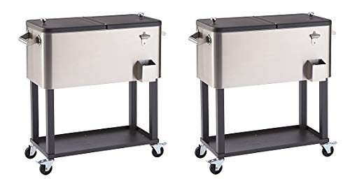 Trinity TXK-0802 Stainless Steel Cooler with Shelf (2-(Pack))