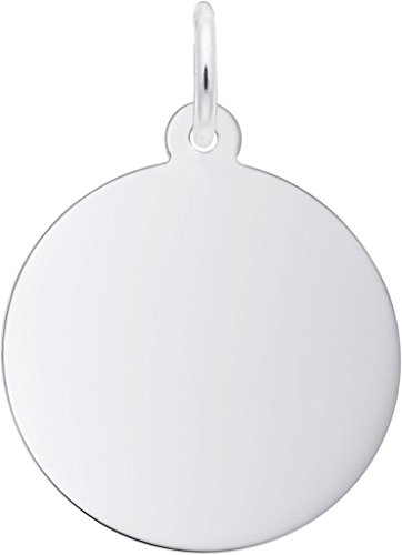 Classic Medium Round Disc Charm (Choose Metal) by Rembrandt| Metal| Sterling Silver