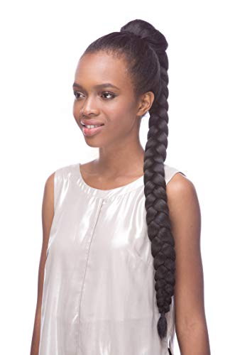 Hair Wig Synthetic Sepia (Draw String Braid Hair Piece Color 1 Black - Sepia Wigs 30
