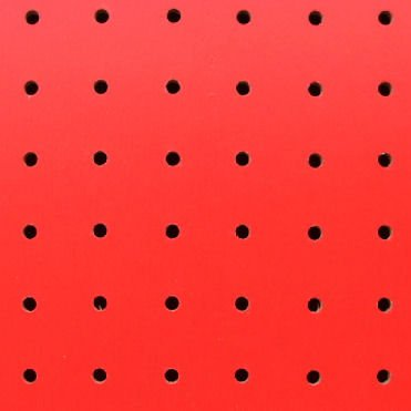 2枚入 有孔ボード赤(4ミリ厚x横910ミリ×縦1830ミリ) 穴径5ミリ穴ピッチ25ミリ B01CJDXKIY