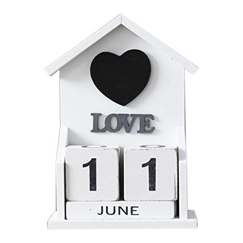 Lopbinte Calendario Decorativo Perpetuo de Madera Vintage ...