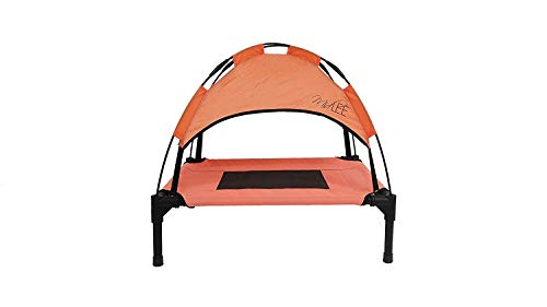 Midlee Outdoor Raised Dog Cot- Salmon (18