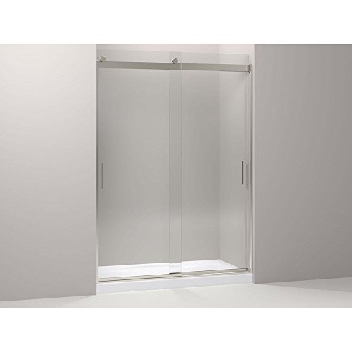 Kohler K-706213-L-NX Levity Front Sliding Glass Panel and Assembly Kit in Brushed Nickel ()