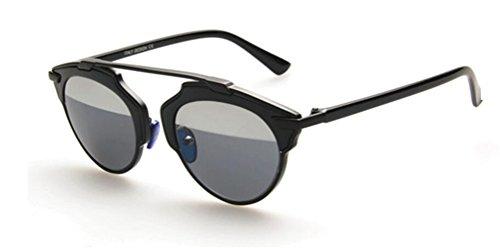 GAMT Classic Style Metal Frame Cat Eye Aviator Polarizer Sunglasses Black-silver - Fast Sunglasses Prescription Delivery