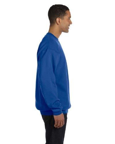 Champion Adult 50/50 Crewneck Sweatshirt, Royal Blue - Size 3X-Large