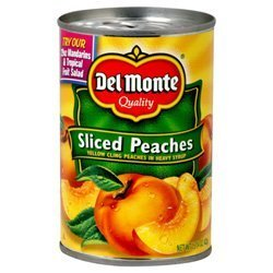 Del Monte, Sliced Peaches, Yellow Cling Peaches