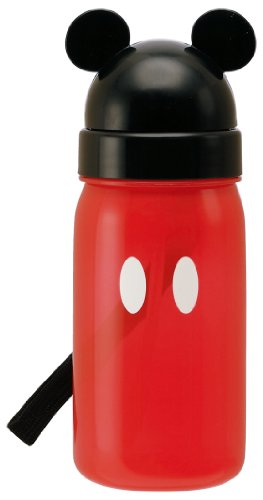 Bottle with Mickey Mouse die-cut straw