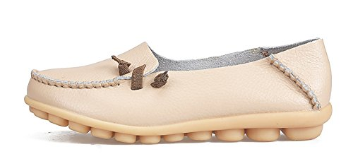 VenusCelia Loafer Comfort Beige Cute Flat Walking Loafer Womens Walking Comfort Cute Flat Womens VenusCelia r51qrw8