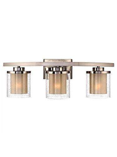 Dolan Designs 3 Light (Dolan Designs 3953-09 Horizon 3 Light Bathroom Fixture, Satin Nickel)