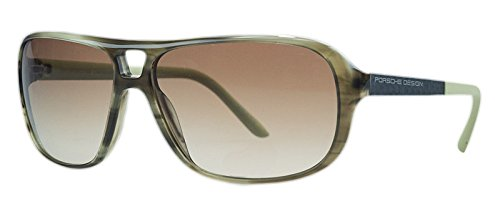 Porsche Design Womens Aviator Sunglasses (Striped/Olive - Porsche Design Aviators
