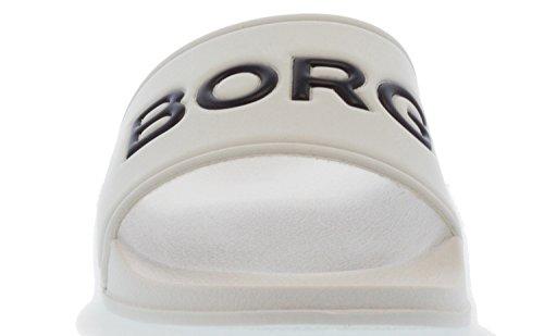 Bjorn Borg Mens Slider Harper Uk 6.5 Bianco
