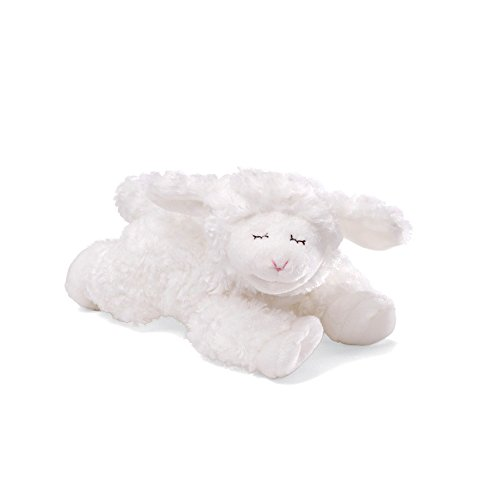 (Baby GUND Winky Lamb Stuffed Animal Plush Rattle, White, 7