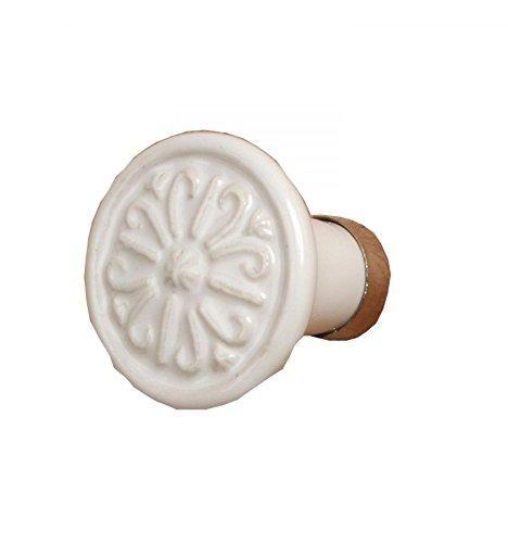 L'Esprit des Anges Bouton de tiroir Poignée de Meuble Forme Rosace en céramique Ø 3 cm L'Esprit des Anges