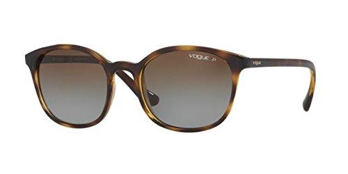 Vogue Eyewear Womens Sunglasses (VO5051) Black/Brown Plastic - Polarized - - Eyewear Vogue