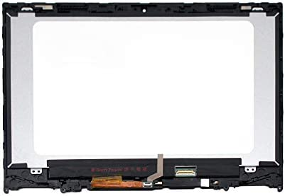 Not for Flex 5 14ARE05 81X2 FTDLCD 14.0 inches FullHD 1080P IPS B140HAN04.2 NV140FHM-N49 LED LCD Display Touch Screen Digitizer Assembly Replacement with Bezel for Lenovo Flex 5-14 5-1470 80XA 81C9