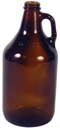 Brown Jug (Amber 1/2 Gallon Glass Jug by Never Pay Retail Again)