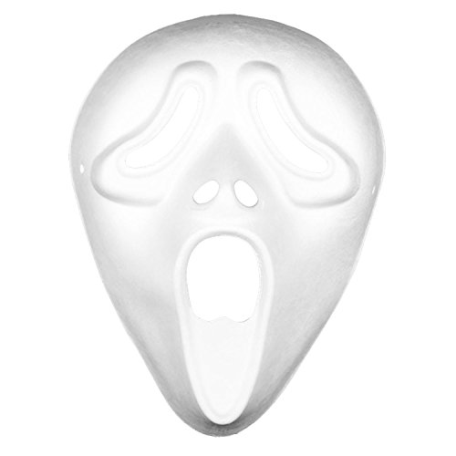 3 JOKERS White Craft Paper Halloween Masquerade DIY Face Mask Cosplay Tool Decorating Party Costume-5PACK Screaming