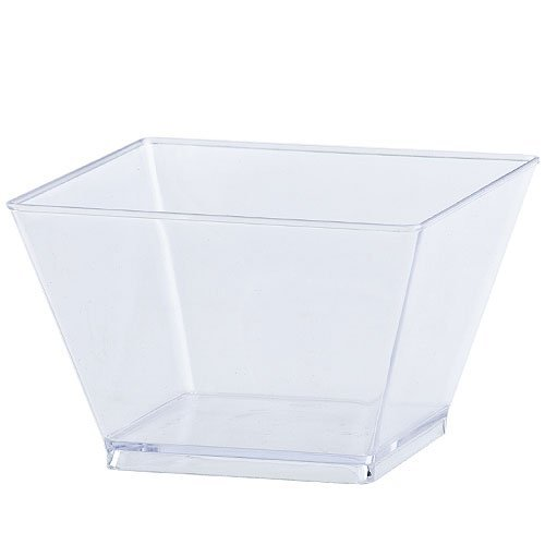 Lillian Tablesettings 20 Count Condiment Bowl, 8-Ounce, Clear Disposable Serving Bowls