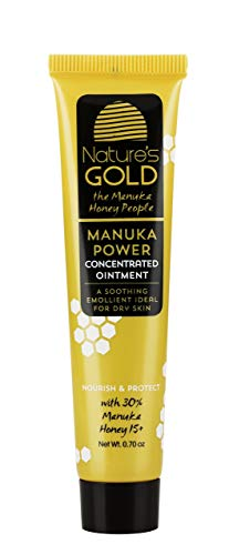 Manuka Honey Active MGO 514+ Healing Concentrated Ointment - Manuka Honey for Skin and Wound Care - Face and Body - Dry Irritated Skin - by Nature's Gold (Eczema Ointment)
