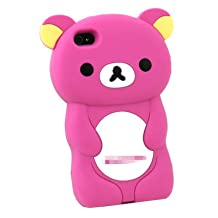Apple iPhone 4S Rilakkuma: 3-D Case in Hot Pink Snap-On Protector Case by San-X