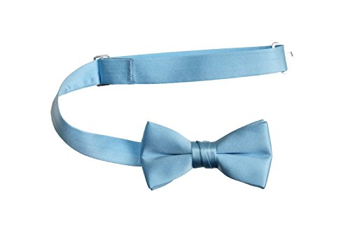 Tuxedo Park Boys' Deluxe Satin Bow Tie Tuxedo (One Size, Solid Light ()