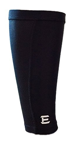 (Calf Compression Sleeve - Leg Compression Socks - Leg Sleeves by EliteTek - Youth & Adult Sizes (1 Pair) (Black, Medium))