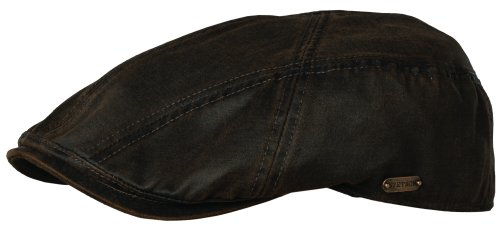 Stetson Men's Weathered Cotton Ivy Cap, Brown Large ()