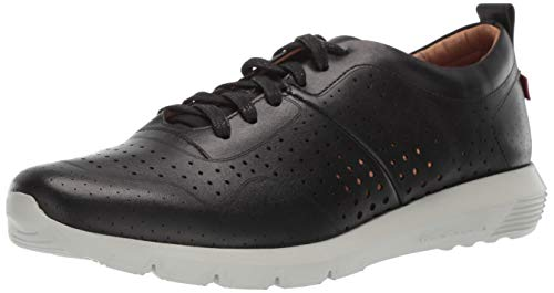 (Marc Joseph New York Mens Genuine Leather Grand Central Sneaker, black nappa/white sole, 10 M US)