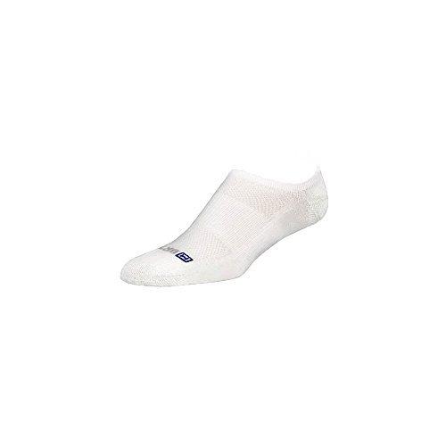 DryMax Golf Lite-Mesh No Show, White, W7.5-9.5 / M6-8, 2 Pack