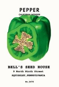 100 GOLDEN YELLOW BELL PEPPER California Wonder Capsicum Annuum Vegetable Seeds