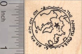 The North Pole, Christmas Rubber Stamp (North Pole Rubber)