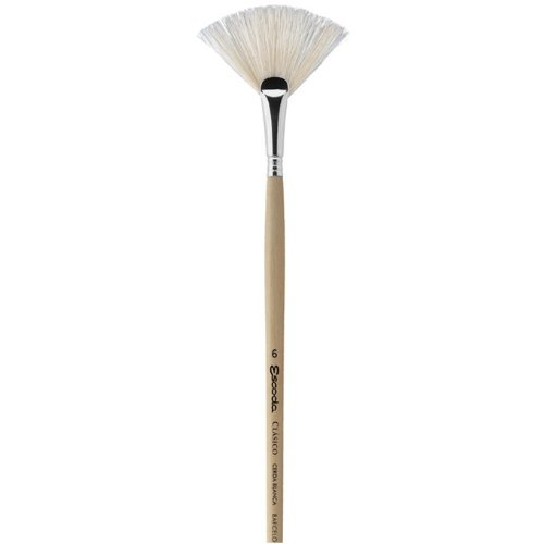 Escoda Clasico 5337 Oil & Acrylic Chungking White Bristle Paint Brush Fan; Size - Brush Bristle Chungking White