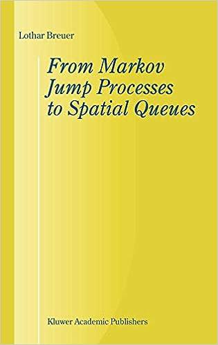Amazon com: From Markov Jump Processes to Spatial Queues