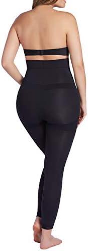 CURVEEZ Thick High Waist Tummy Compression Slimming Leggings Shaper