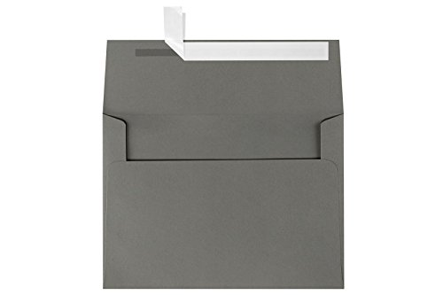 A7 Invitation Envelopes w/Peel & Press (5 1/4 x 7 1/4) - Smoke Gray (50 Qty) | Perfect for 5x7 Cards, Holiday Greetings, Invitations and Photos | Printable | 80lb Paper | EX4880-22-50