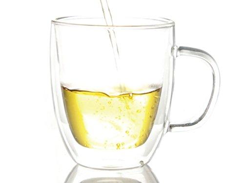16 oz glass coffee mug set - 8