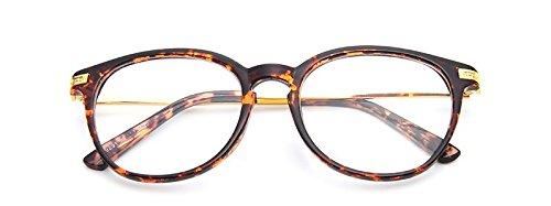 Embryform m¨¦tal l¨¦ger bo?te ronde lunettes en verre clair Point de Brown