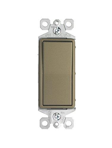 Pass & Seymour TM873ABCC10 15A 3-Way Decorative Switch, Brass