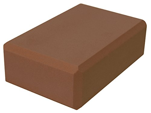 YogaAccessories 3'' Foam Yoga Block - Dark Brown