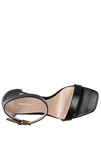 Sandales En Cuir Stuart Femmes Sandales Noires À Talons Weitzman